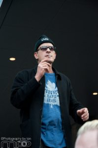 Charlie Sheen before his walk in Toronto