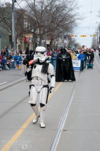 Darth Vadar Does not Have Office Space Toronto, but he did attend Easter Parade