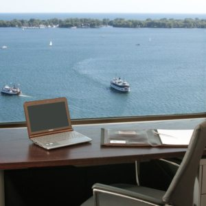 Lake View from Toronto office space at Telsec