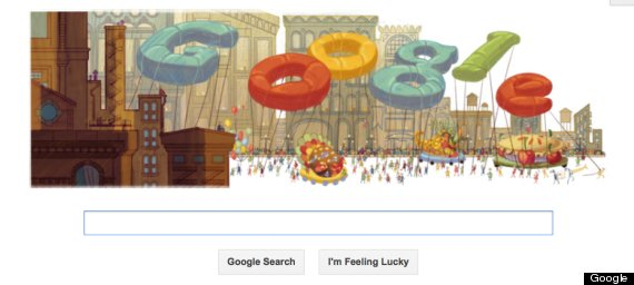 American Thanksgiving Google Doodle 2012
