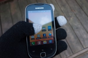 Conductive Gloves are gloves that allow you to interact with touch screens regardless of temperture