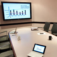 Note even the graphic used in this photo of one of our meeting rooms was created using the free Gimp software