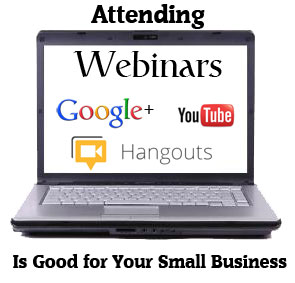 attending webinars